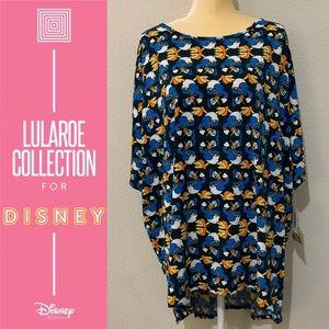 LuLaRoe Irma Disney Donald Duck Women's Top Sz 3XL